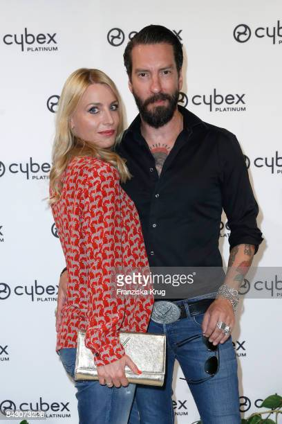 Alec Voelkel member of 'The Boss Hoss' and his wife Johanna Voelkel during the Cybex Fashion Cocktail on September 5 2017 in Berlin Germany