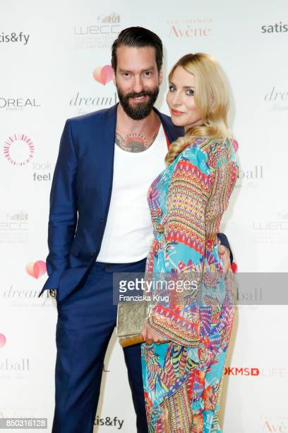 Alec Voelkel member of 'The Boss Hoss' and his wife Johanna Voelkel attend the Dreamball 2017 at Westhafen Event Convention Center on September 20...