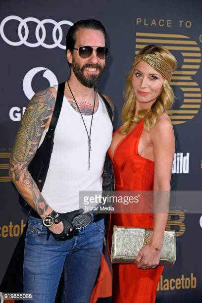 Alec Voelkel of the band The BossHoss and his wife Johanna Michels attend the PLACE TO B Party on February 17 2018 in Berlin Germany
