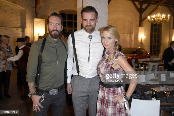 Alec Voelkel of the band The BossHoss his wife Johanna Michels and Christoph Metzelder attend the 'CMS Gamblers Night Western Style' of Christoph...