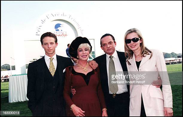 Alec Wildenstein and family at The Prix De L' Arc DeTriomphe In Longchamp 1997