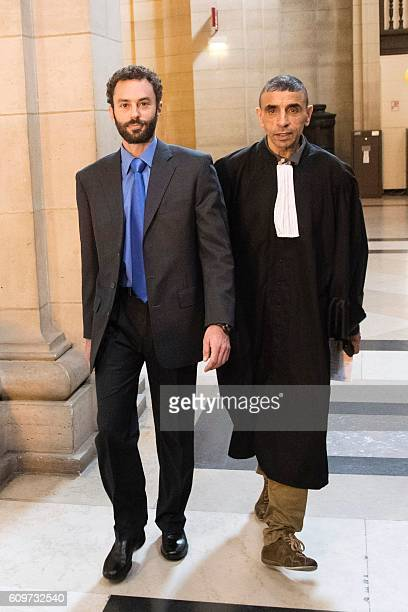 Alec Wildenstein nephew of French Americain art dealer Guy Wildenstein arrives for a trial over tax fraud at the courthouse in Paris on September 22...