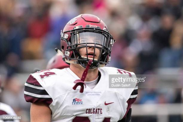 Alec Wisniewski of the Colgate Raiders during a game against the Army Black Knights at Michie Stadium on November 17 2018 in West Point New York