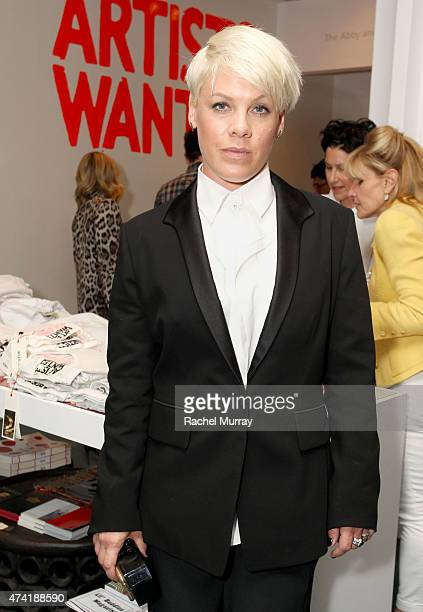 Alecia Beth Moore aka Pink attends LACMA's Director Circle debuts the Spring 2015 Wear LACMA collection featuring designs by dosa And FREECITY at...