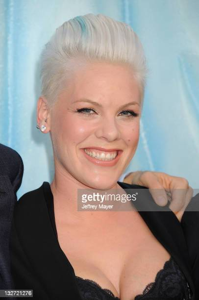 Alecia Beth Moore attends the 'Happy Feet Two' Los Angeles Premiere at Grauman's Chinese Theatre on November 13 2011 in Hollywood California