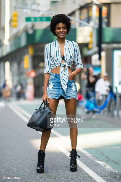 Alecia Morais attends casting for the 2018 Victoria's Secret Fashion Show in Midtown on September 4 2018 in New York City