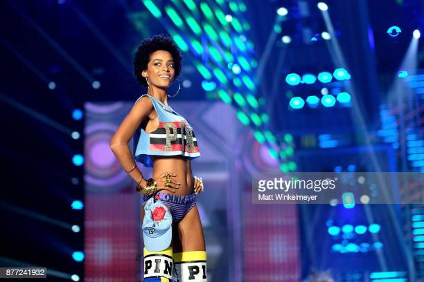 Alecia Morais walks the runway during the 2017 Victoria's Secret Fashion Show In Shanghai at MercedesBenz Arena on November 20 2017 in Shanghai China