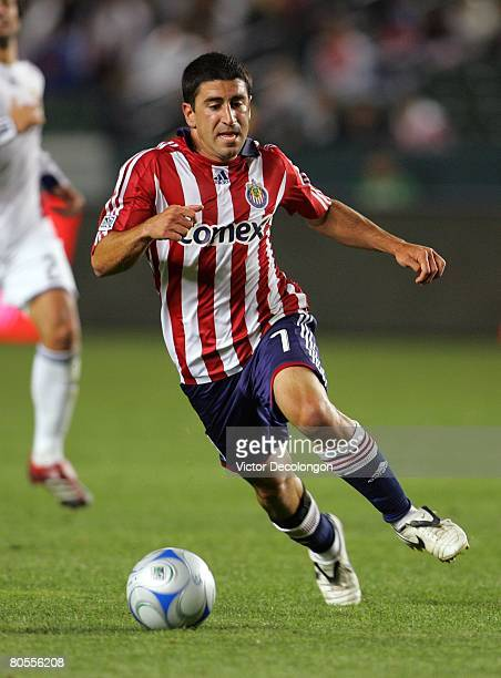 Alecko Eskandarian of CD Chivas USA runs down the ball for a breakaway en route to a goal in the second half against Real Salt Lake during their MLS...