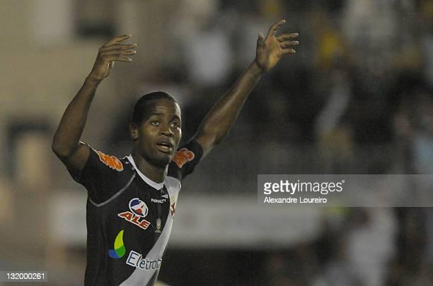 Alecsandro of Vasco da Gama celebrate a goal during a match between Vasco da Gama and Universidario as part of Quarterfinals of Bridgestone South...