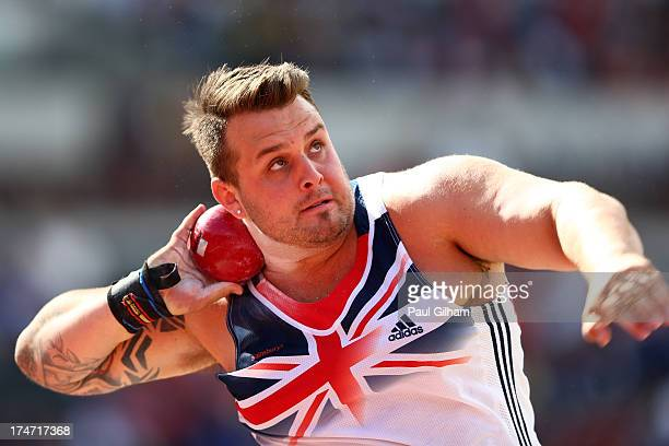 Aled Davies of Great Britain competes in the Men's F42 Shot Put during day three of the Sainsbury's Anniversary Games IAAF Diamond League 2013 at The...
