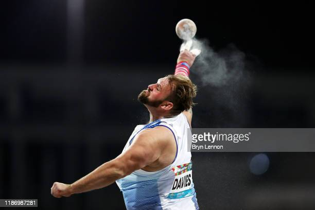 Aled Davies of Great Britain competes in the Men's F63 Shot Put on Day Four of the IPC World Para Athletics Championships 2019 Dubai on November 10...