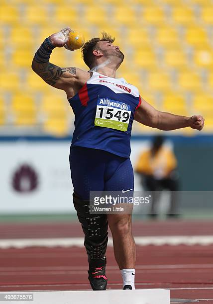Aled Davies of Great Britain competes in the Men's Shot Put F42 Final during the Morning Session on Day One of the IPC Athletics World Championships...