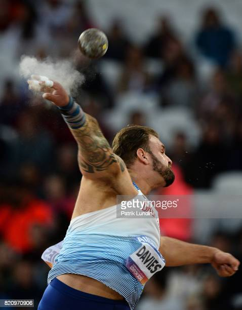 Aled Davies of Great Britain in action during the final of the mens shot put F42 on day nine of the IPC World ParaAthletics Championships 2017 at...
