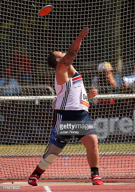 Aled Davies of Great Britain in action in the Men's Discus F42 during day four of the IPC Athletics World Championships on July 23 2013 in Lyon France