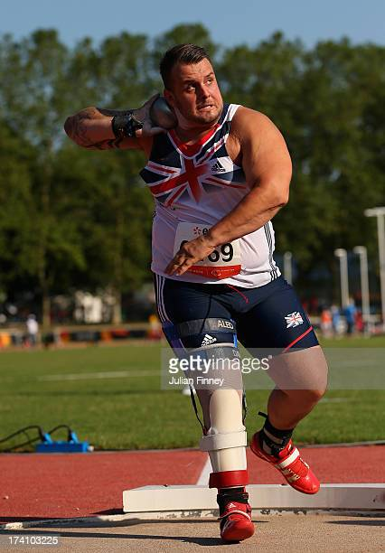 Aled Davies of Great Britain in action in the Men's Shot Put F42 during day one of the IPC Athletics World Championships on July 20 2013 in Lyon...