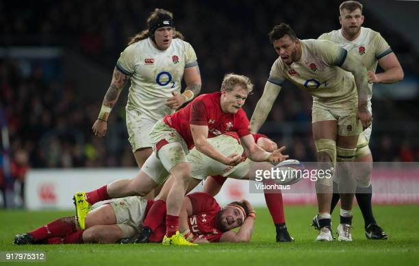 Aled Davies of Wales during the NatWest Six Nations match between England and Wales at Twickenham Stadium on February 10th 2018 in London England