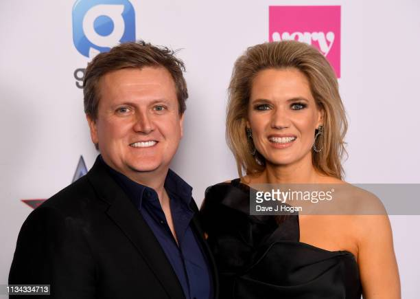 Aled Jones and Charlotte Hawkins attend The Global Awards with Verycouk at Eventim Apollo Hammersmith on March 07 2019 in London England