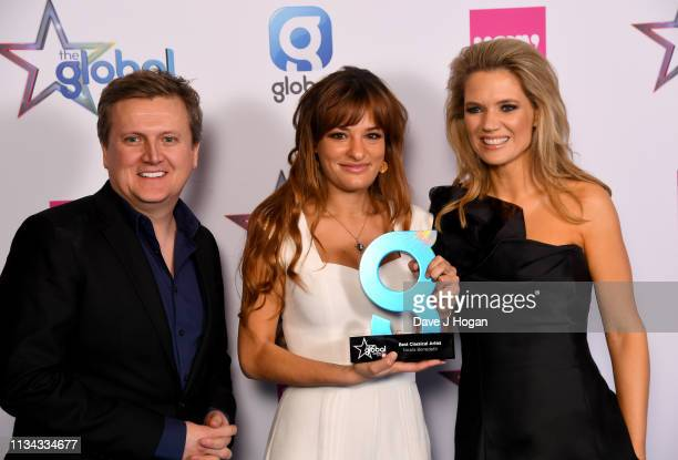 Aled Jones and Charlotte Hawkins present Nicola Benedetti with the Best Classical Artist Award at the The Global Awards with Verycouk at Eventim...