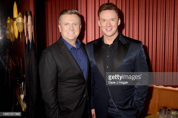 Aled Jones and Russell Watson attend the 'In Harmony' album launch at The Arts Club on October 15 2018 in London England