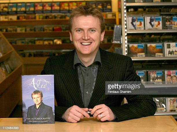 Aled Jones during Aled Jones Signs His Autobiography 'Aled' at Borders Oxford Street in London Great Britain