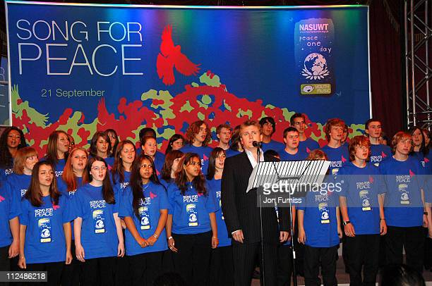 Aled Jones during 'Song For Peace' Performance in London