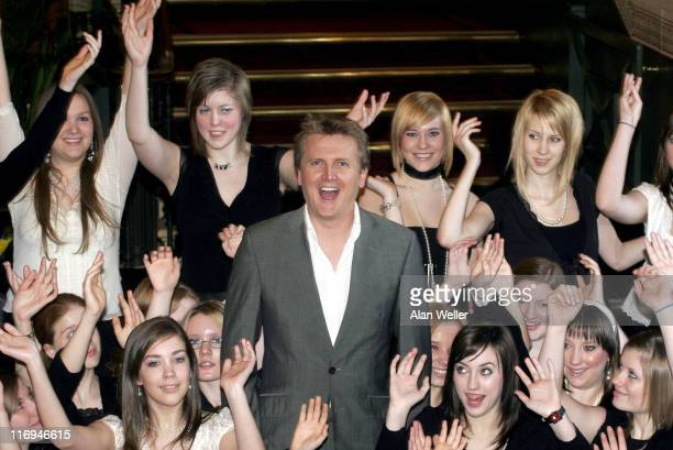 Aled Jones rehearses a special 'Anthem for Peace' with the girls choir Cantamus