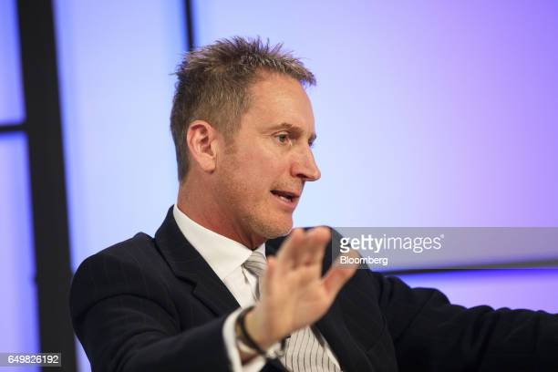 Aled Miles chief executive officer of TeleSign Corp speaks during the Montgomery Summit in Santa Monica California US on Wednesday March 8 2017 The...