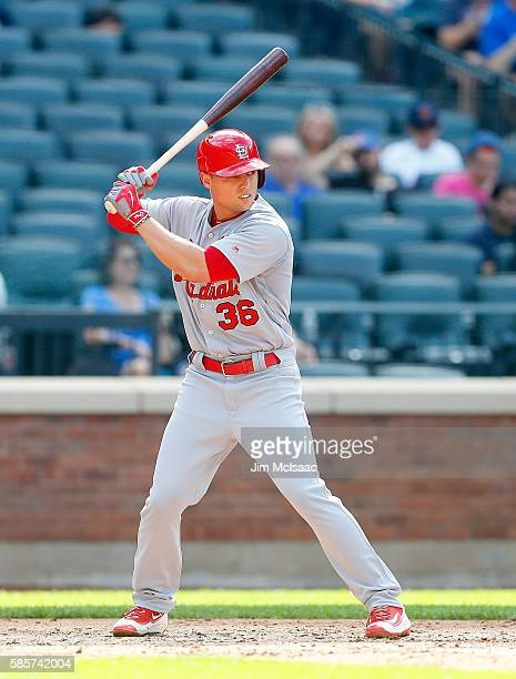 Aledmys Diaz of the St Louis Cardinals in action against the New York Mets at Citi Field on July 26 2016 in the Flushing neighborhood of the Queens...