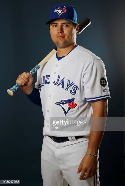 Aledmys Diaz of the Toronto Blue Jays poses for a portrait on February 22 2018 at Dunedin Stadium in Dunedin Florida