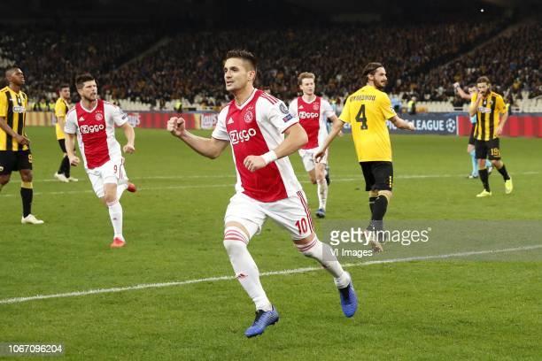 Alef of AEK Athens Klaas Jan Huntelaar of Ajax Dusan Tadic of Ajax Frenkie de Jong of Ajax Marios Oikonomou of AEK Athens Dmytro Chygrynskiy of AEK...