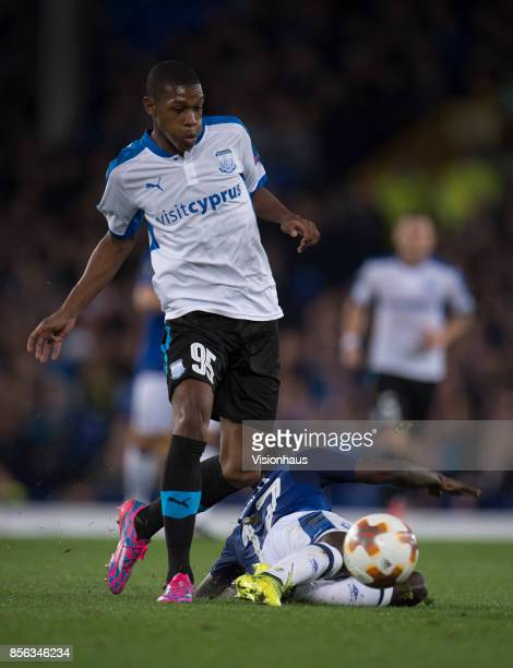 Alef of Apollon Limassol in action during the UEFA Europa League group E match between Everton FC and Apollon Limassol at Goodison Park on September...