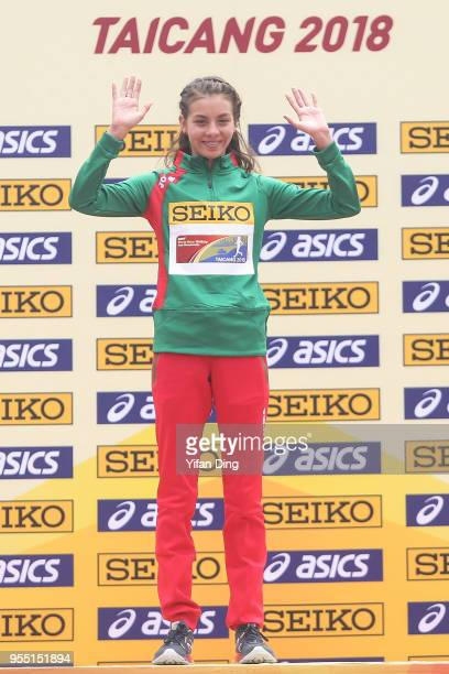 Alegna Gonzalez of Mexico poses for photo during medal ceremony of Women's 10 kilometres Race Walk of IAAF World Race Walking Team Championships...