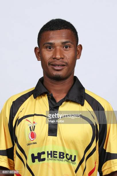 Alei Nao of Papua New Guinea poses during a Papua New Guinea headshots session at the Realm Hotel on February 14 2017 in Canberra Australia