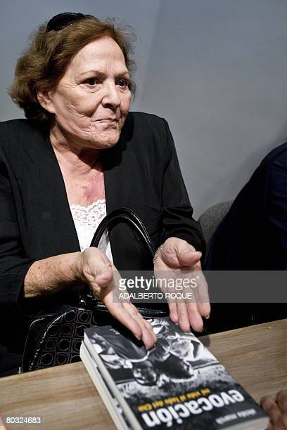 Aleida March widow of ArgentineCuban revolutionary leader Ernesto Che Guevara presents the book 'Evocation' about her life with Guevara on March 20...