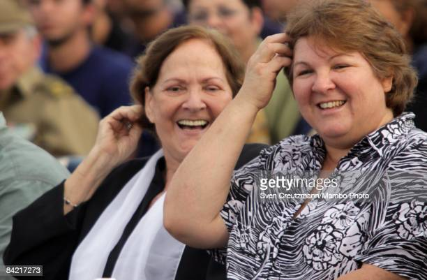 Aleida March widow of Ernesto Che Guevara and her daughter Aleida Guevara March during a political act to commemorate the arrival of the socalled...