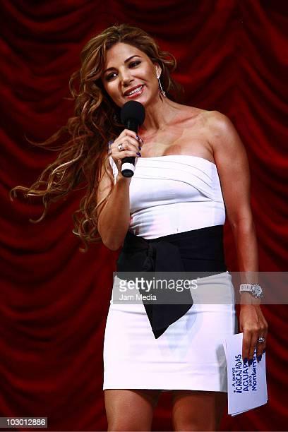 Aleida Nunez in action during the comedy show Unidos por Monterrey on July 20 2010 in Mexico City Mexico