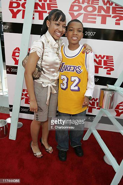 Aleisha Allen and Philip Daniel Bolden during The Premiere of Revolution Studios' and Columbia Pictures' 'Are We Done Yet' Red Carpet at Mann Village...