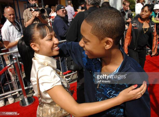 Aleisha Allen and Tyler James Williams during 'Are We Done Yet' Los Angeles Premiere Red Carpet at Mann Village Theater in Westwood California United...