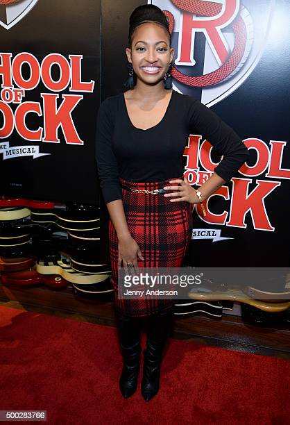 Aleisha Allen attends 'School Of Rock' Broadway Opening Night at Hard Rock Cafe New York on December 6 2015 in New York City