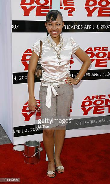 Aleisha Allen during 'Are We Done Yet' Los Angeles Premiere Arrivals at Manns Village Theater in Westwood California United States