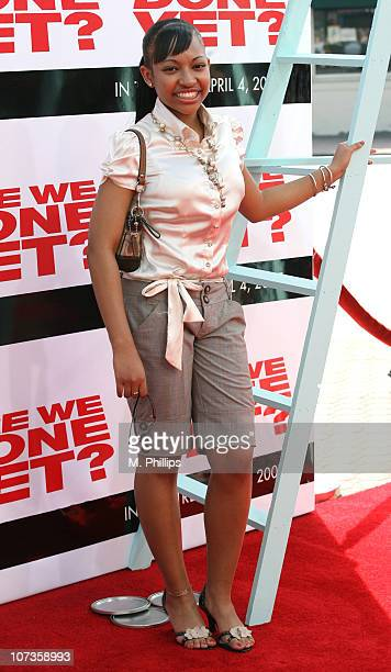 Aleisha Allen during The Premiere of Revolution Studios' and Columbia Pictures' 'Are We Done Yet' Arrivals at Mann Village Theatre in Westwood...