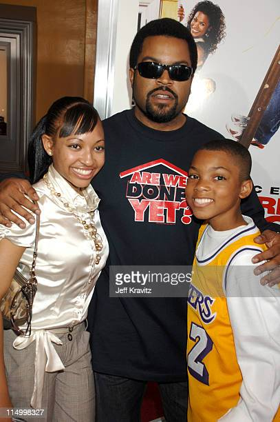 Aleisha Allen Ice Cube and Philip Daniel Bolden during 'Are We Done Yet' Los Angeles Premiere Red Carpet at Mann Village Theater in Westwood...