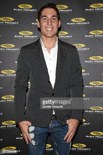 Aleix Espargaro attends a party for 'Rudy Project' 30th Anniversary Party during the 72nd Venice Film Festival at Granai dell'Hotel Cipriani on...