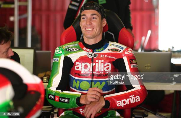 Aleix Espargaro during the Moto GP test in the Barcelona Catalunya Circuit on 22th May 2018 in Barcelona Spain