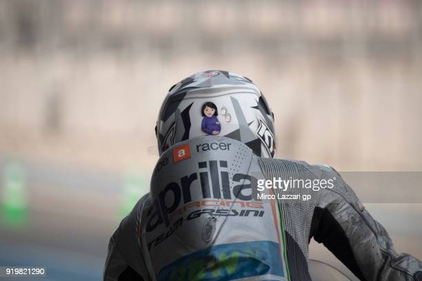 Aleix Espargaro of Spain and Aprilia Racing Team Gresini starts from box during the MotoGP Tests In Thailand on February 18 2018 in Buri Ram Thailand