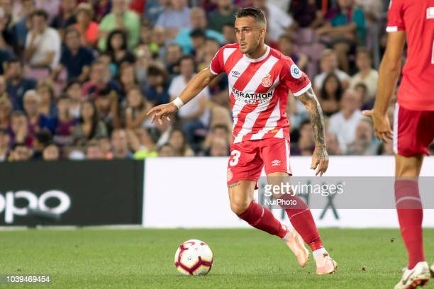 Aleix Garcia during the spanish league La Liga match between FC Barcelona and Girona FC at Camp Nou Stadium in Barcelona Catalonia Spain on September...