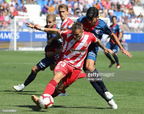Aleix Garcia of FC Girona during the La Liga match between SD Huesca and FC Girona at El Alcoraz on September 30 2018 in Huesca Spain