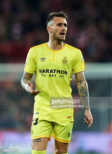 Aleix Garcia of Girona FC reacts during the La Liga match between Athletic Club and Girona FC at San Mames Stadium on December 10 2018 in Bilbao Spain