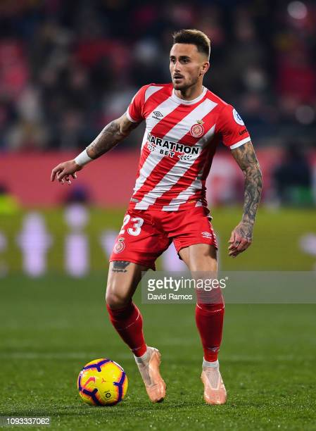 Aleix Garcia of Girona FC runs with the ball during the La Liga match between Girona FC and Deportivo Alaves at Montilivi Stadium on January 12 2019...