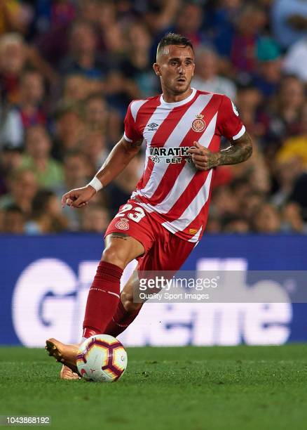 Aleix Garcia of Girona in action during the La Liga match between FC Barcelona and Girona FC at Camp Nou on September 23 2018 in Barcelona Spain